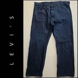 Levi's 501 Denim Blue Straight Jeans Button Fly 40